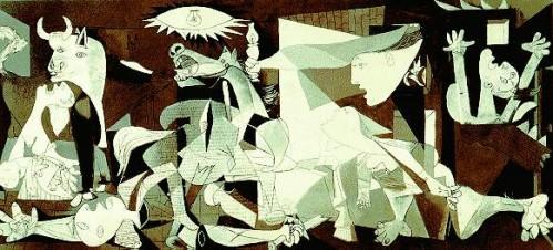 Pablo Picasso Nuo žemės nušluotas Gerniko miestas 1937