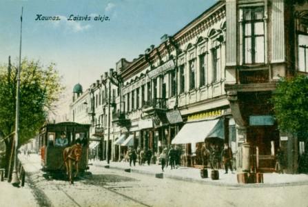 Kaunas - senos Laisvės al. fragmentas (dabar SEB)