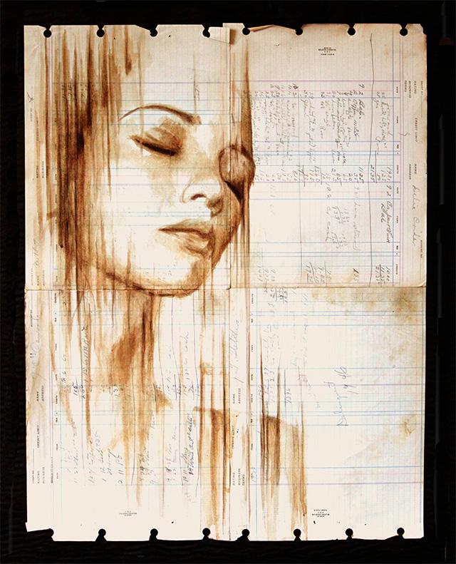 Art Karen Eland - piešinys pieštas kava